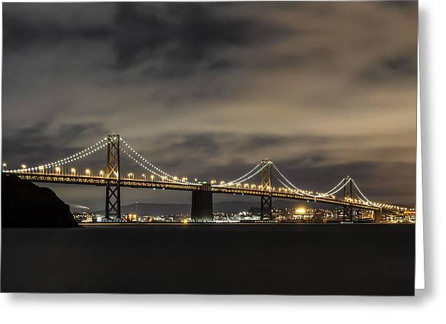 Architectural Treasure Greeting Cards - Bay Bridge from Treasure Island Greeting Card by Gej Jones