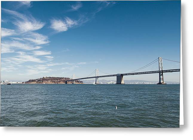 Bay Bridge Greeting Cards - Bay Bridge Greeting Card by Nastasia Cook