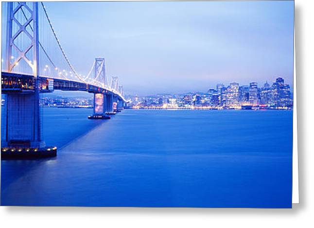 Connectivity Greeting Cards - Bay Bridge San Francisco Ca Greeting Card by Panoramic Images