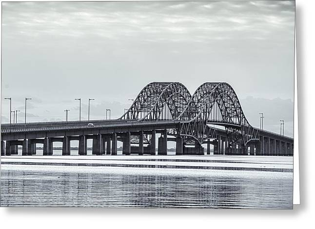 Bay Bridge Greeting Cards - Bay Crossing Greeting Card by Andrew  Craig