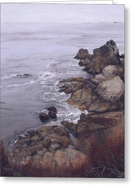 Big Sur Ca Paintings Greeting Cards - Bay Inlet in October Greeting Card by Terry Guyer