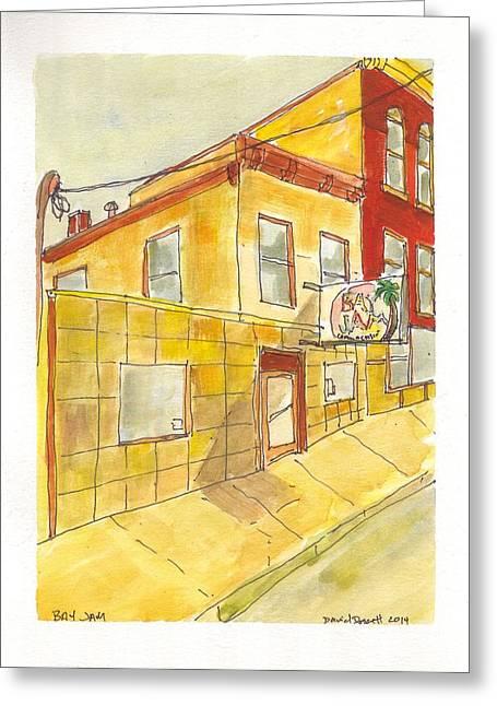 Kingston Paintings Greeting Cards - Bay Jam Greeting Card by David Dossett