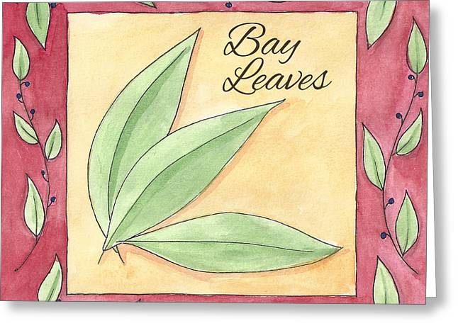 Garden Art Greeting Cards - Bay Leaves Greeting Card by Christy Beckwith