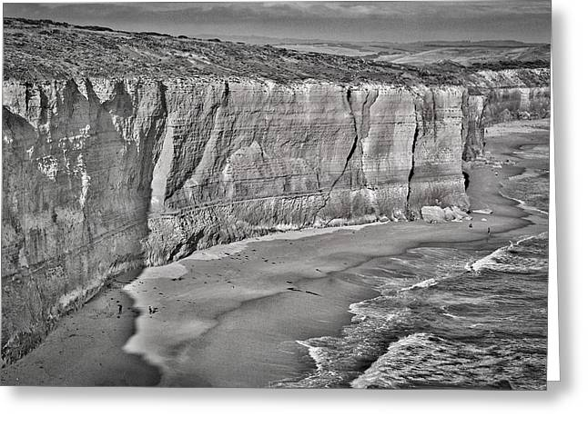 Monolith Greeting Cards - Bay of Islands Cliffs #2 - Black and White Greeting Card by Stuart Litoff