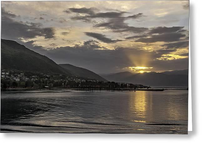 Ocean Panorama Greeting Cards - Bay of Kotor Greeting Card by Maria Coulson