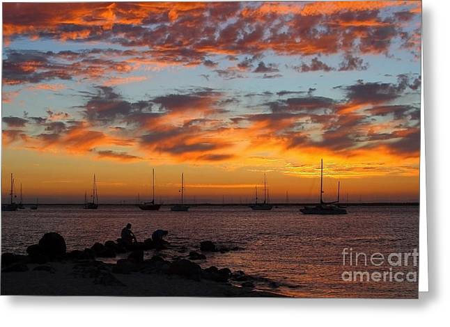 Seacape Greeting Cards - Bay of La Paz Greeting Card by Robert  McKinstry