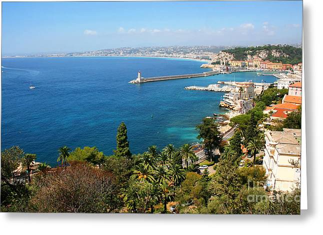 Azur Greeting Cards - Bay of Nice at Cote dAzur Greeting Card by JR Photography