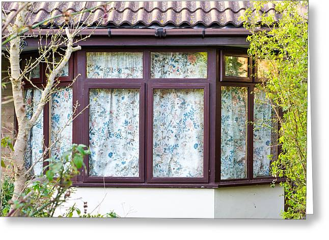 Tiled Greeting Cards - Bay window Greeting Card by Tom Gowanlock