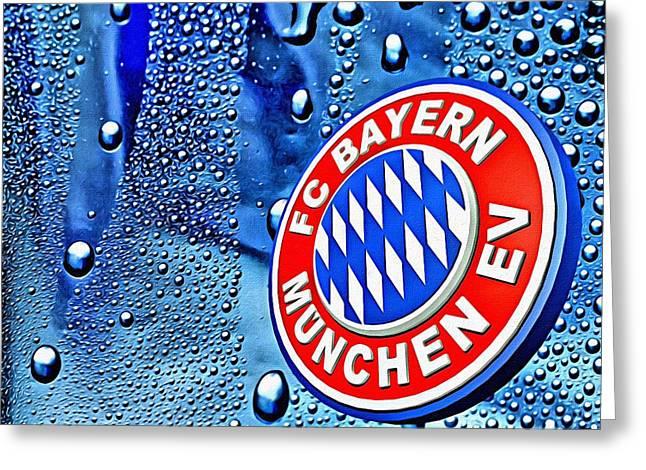 Deutschland Greeting Cards - Bayern Football Club Art Greeting Card by Florian Rodarte