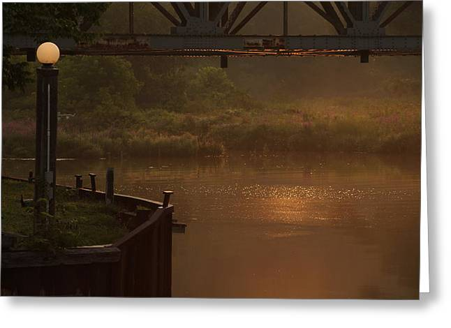 Haze Greeting Cards - Under Bayfield Bridge Greeting Card by Karl Anderson