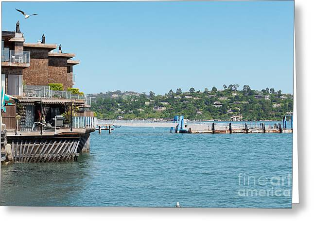 Sausalito Greeting Cards - Bayfront condos Greeting Card by Jo Ann Snover