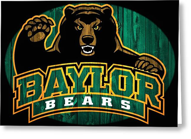 Waco Greeting Cards - Baylor Bears Barn Door Greeting Card by Dan Sproul