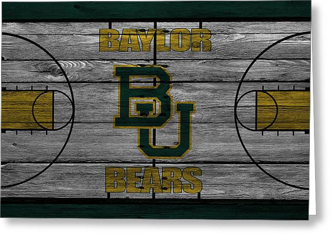 Baylor Bears Greeting Card by Joe Hamilton