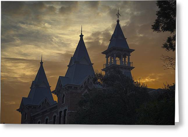 Waco Greeting Cards - Baylor Dawn Greeting Card by Joan Carroll