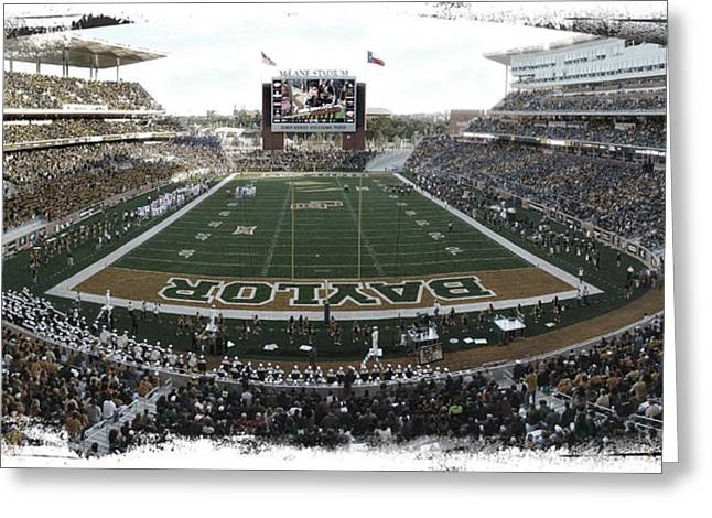 Sidelines Greeting Cards - Baylor Gameday No 2 Greeting Card by Stephen Stookey
