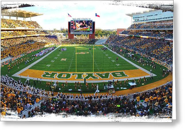 Waco Greeting Cards - Baylor Gameday No 3 Greeting Card by Stephen Stookey