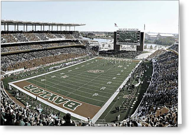Recently Sold -  - Runner Greeting Cards - Baylor Gameday No 4 Greeting Card by Stephen Stookey