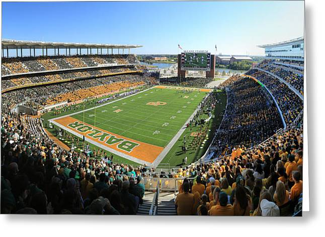 Cheerleader Greeting Cards - Baylor Gameday No 5 Greeting Card by Stephen Stookey