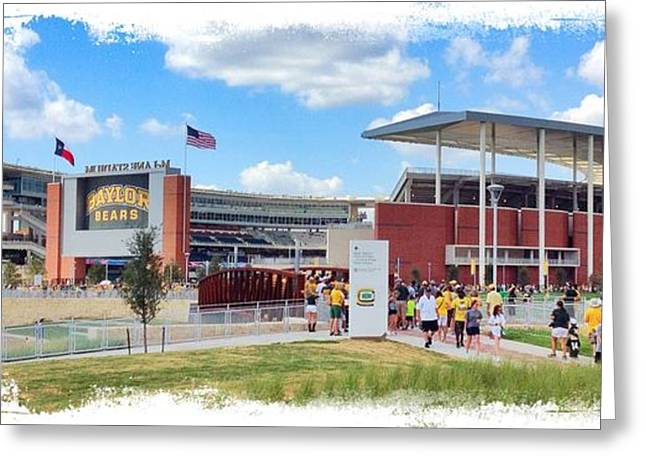 College Spirit Greeting Cards - Baylor Gameday Greeting Card by Stephen Stookey