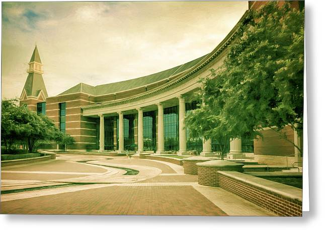 Waco Greeting Cards - Baylor Sciences Building Greeting Card by Joan Carroll