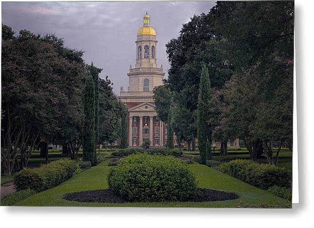 Waco Greeting Cards - Baylor University Icon Greeting Card by Joan Carroll