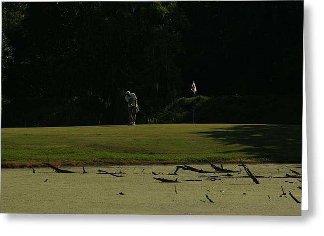 John Glass Greeting Cards - Bayou Golf Greeting Card by John Glass