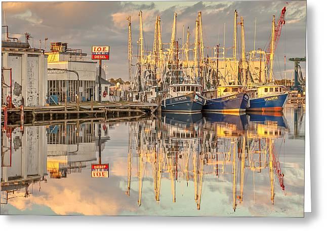 Bayou La Batre' Al Shrimp Boat Reflections 39 Greeting Card by Jay Blackburn