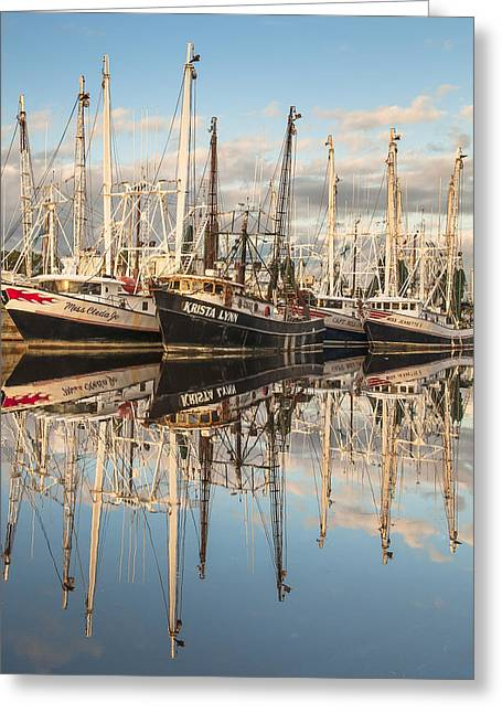 Reflection In Water Greeting Cards - Bayou LaBatre Shrimp Boat Reflections 26 Greeting Card by Jay Blackburn