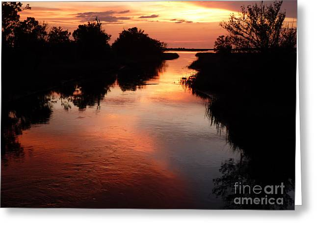 Family Of Doctors Greeting Cards - Bayport Sunset Greeting Card by Susan Duda