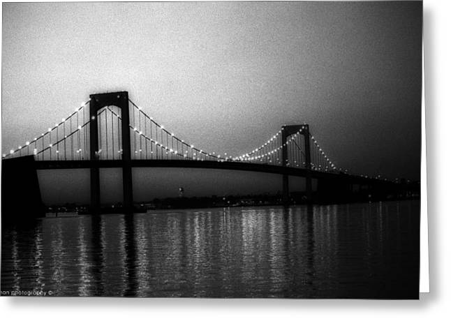 Isaac Silman Greeting Cards - Bayside Bridge Queens NY Greeting Card by Isaac Silman