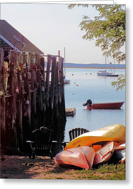 Ptown Greeting Cards - Bayside Ptown Greeting Card by Rene Crystal