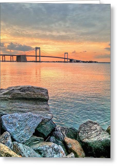 Long Island Sound Greeting Cards - Bayside Queens Greeting Card by JC Findley