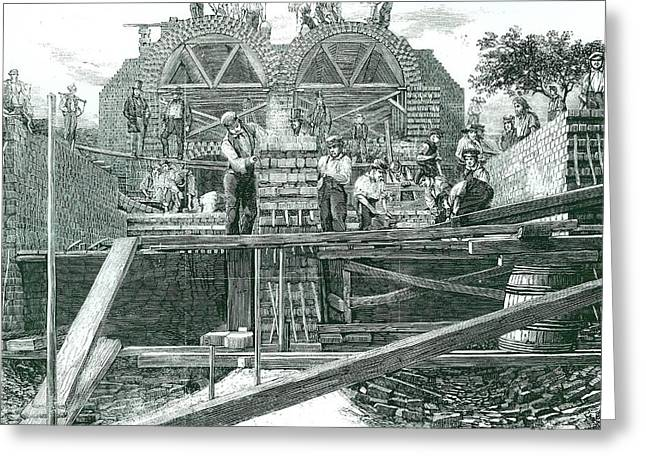 Bazalgette's Metropolitan Drainage Scheme Greeting Card by Universal History Archive/uig