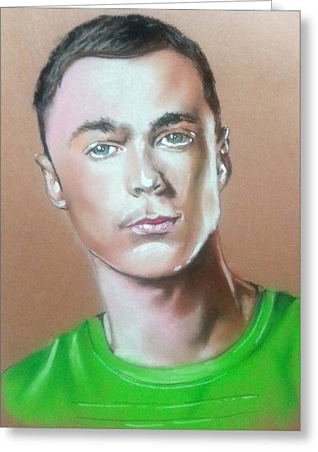 Theory Pastels Greeting Cards - Bazinga Greeting Card by Bobby Boyer