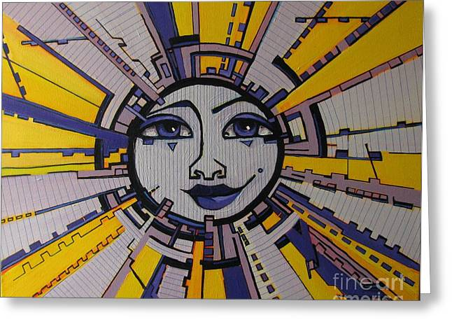 Bazinga - Sun Greeting Card by Grace Liberator