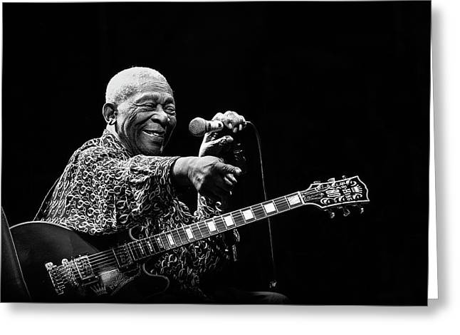 Bb King Greeting Card by Alice Lorenzini