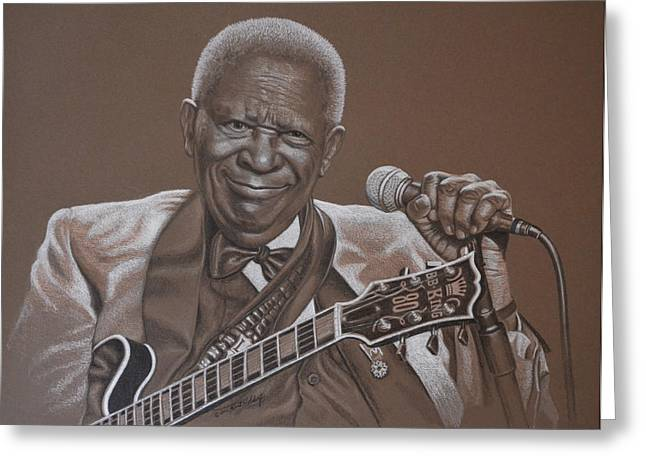 Lengend Greeting Cards - BB King Greeting Card by Kurt Holdorf