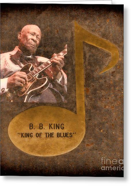 Fame Shop Greeting Cards - BB King Note Greeting Card by Donna Van Vlack