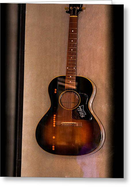 Playing Musical Instruments Greeting Cards - BB Kings Guitar Greeting Card by Gary Keesler