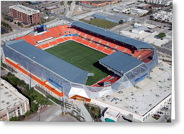 Dynamos Greeting Cards - BBVA Compass Stadium in Houston Greeting Card by Bill Cobb