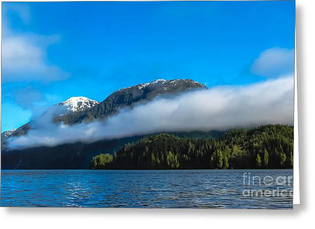 Queen Charlotte Strait Greeting Cards - BC Coastline Greeting Card by Robert Bales