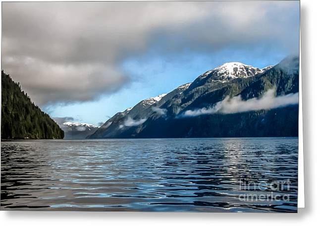 Haybale Greeting Cards - BC Inside Passage Greeting Card by Robert Bales
