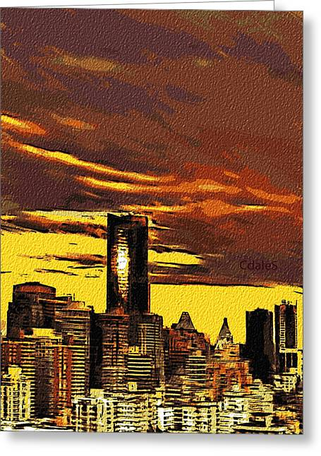 Vancouver Greeting Cards - BC Sunset Greeting Card by Dale Stillman