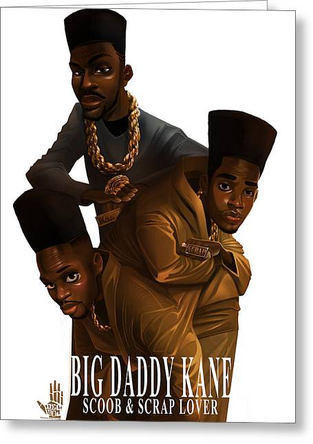 Big Daddy Kane Greeting Cards - BDK white bg Greeting Card by Nelson Dedos Garcia