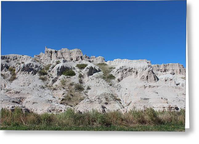Ghostly Barn Greeting Cards - Badlands N P 31 Greeting Card by Nelson Skinner