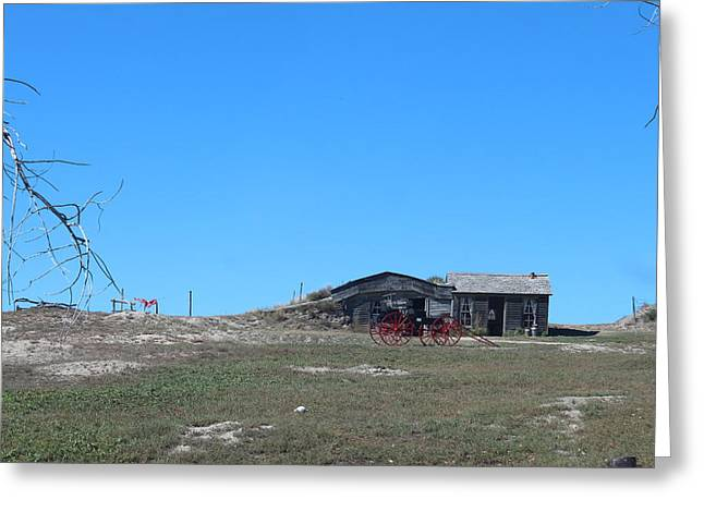 Ghostly Barn Greeting Cards - Badlands N P 32 Greeting Card by Nelson Skinner