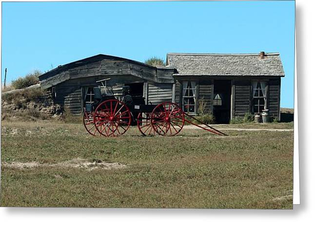 Ghostly Barn Greeting Cards - Badlands N P  33 Greeting Card by Nelson Skinner