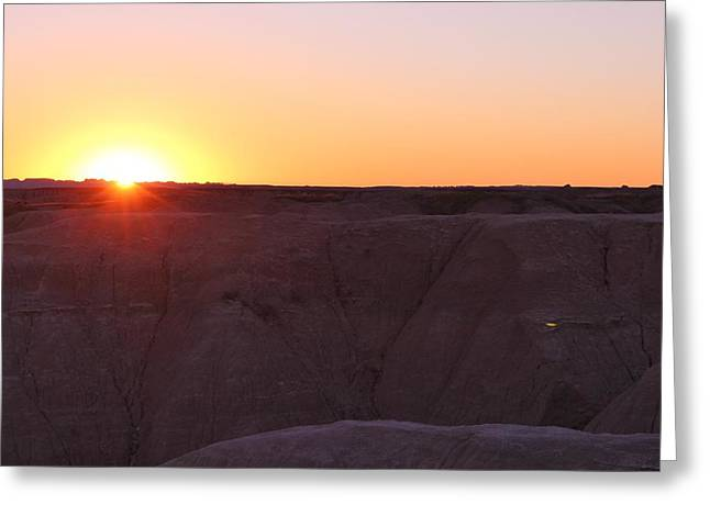 Ghostly Barn Greeting Cards - Badlands N P  37 Greeting Card by Nelson Skinner