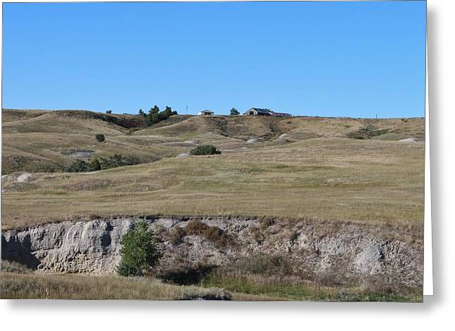 Ghostly Barn Greeting Cards - Badlands N P  46 Greeting Card by Nelson Skinner