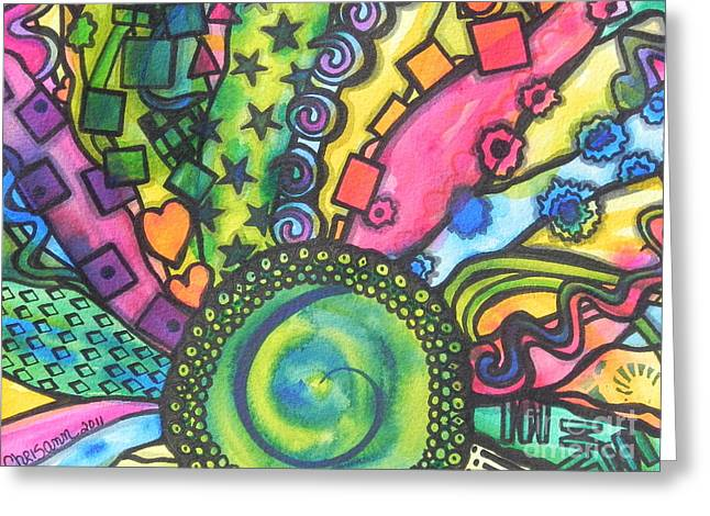 Fantasty Greeting Cards - Be A Hippie Greeting Card by Chrisann Ellis